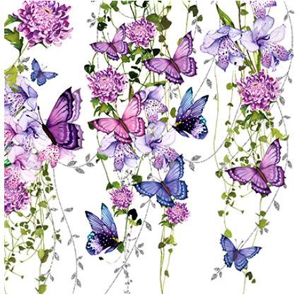 Serviette `Butterfly`