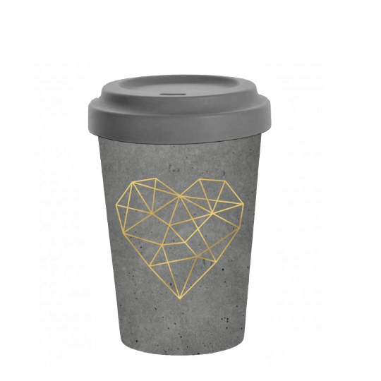 To-Go Becher Geometric Heart