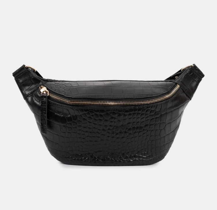 Fanny Croco Black body bag