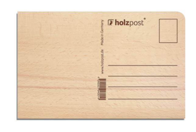 Holzpostkarte Happy Birthday - 0