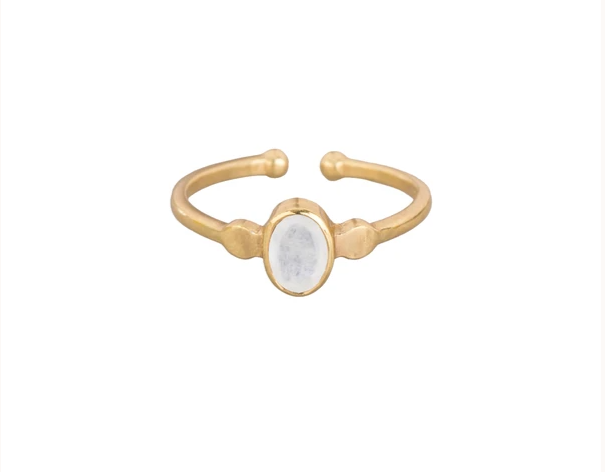 Ring Gold oval Edelstein